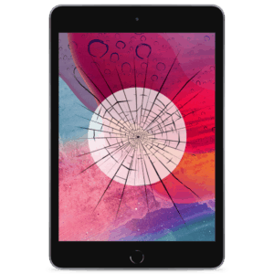 An iPad Mini 5 screen replacement service to repair cracked or broken glass in our shop on the 2019 model.