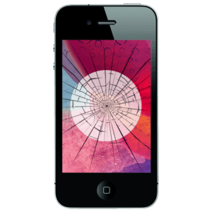 An iPhone 4 screen replacement service to restore cracked or broken glass in our shop.