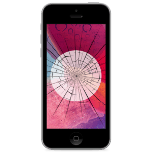 An Apple iPhone 5 screen replacement service to repair cracked or broken glass in our shop.