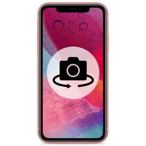 An iPhone XR camera replacement for the rear lens in our shop.