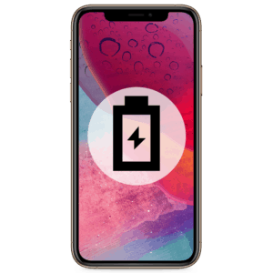 An iPhone XS battery replacement in our shop to remedy any drain or dying problems.