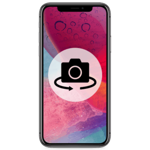 An iPhone X camera replacement for the rear lens in our shop.