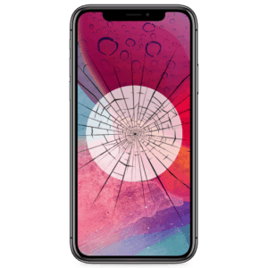 An iPhone X screen replacement service to repair cracked or broken glass in our shop.