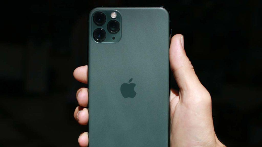 An iPhone 11 Pro Max repair cost for the camera to restore the lens.