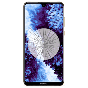 A Huawei Y6 2019 screen replacement service to repair cracked or broken glass in our shop.