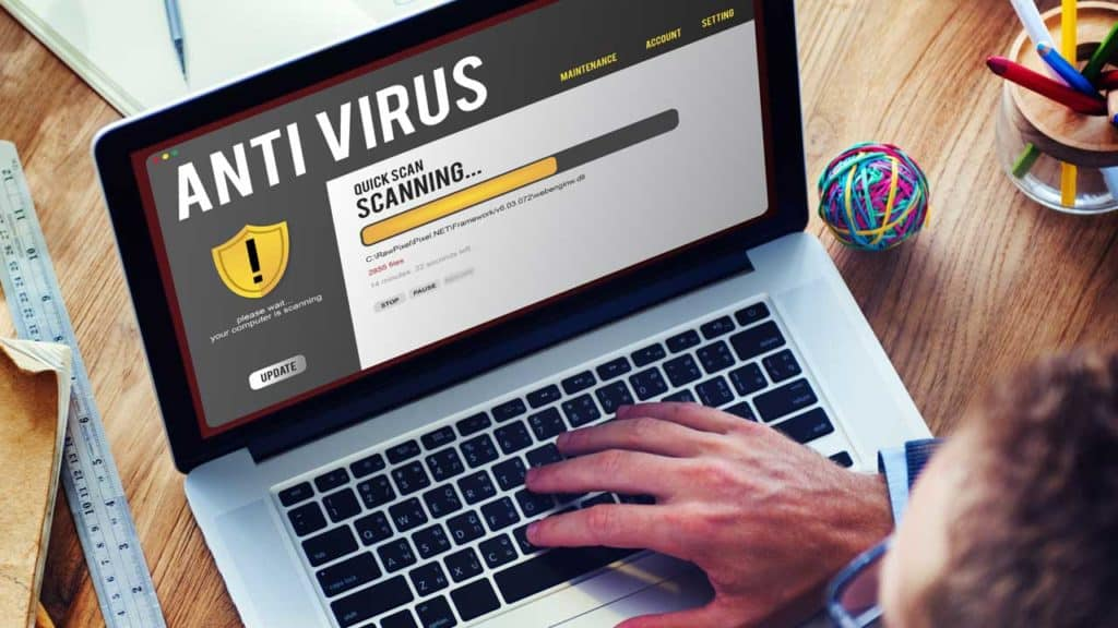 Computer anti-virus software scan for malicious code.