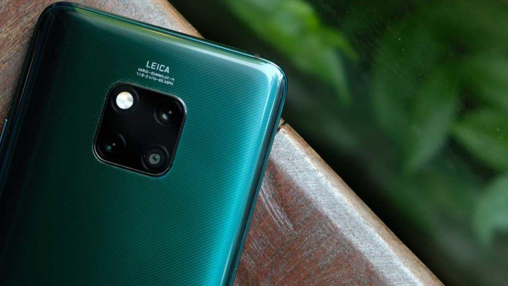 A Huawei Mate 20 phone rear camera with Leica lens.