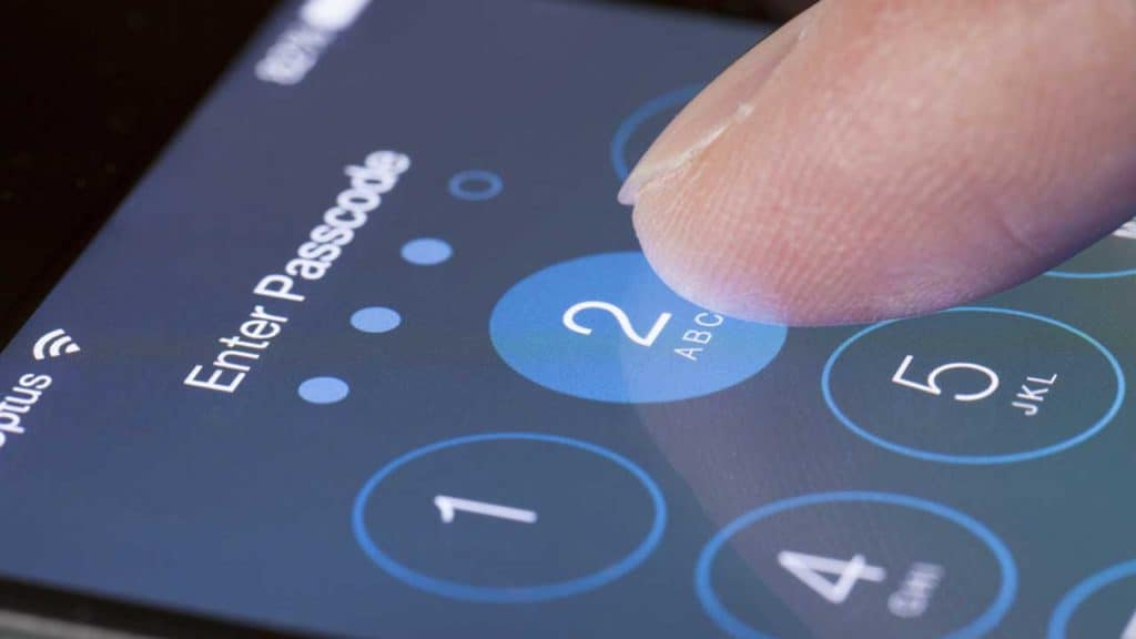 iPhone is disabled passcode entry on the lock screen.
