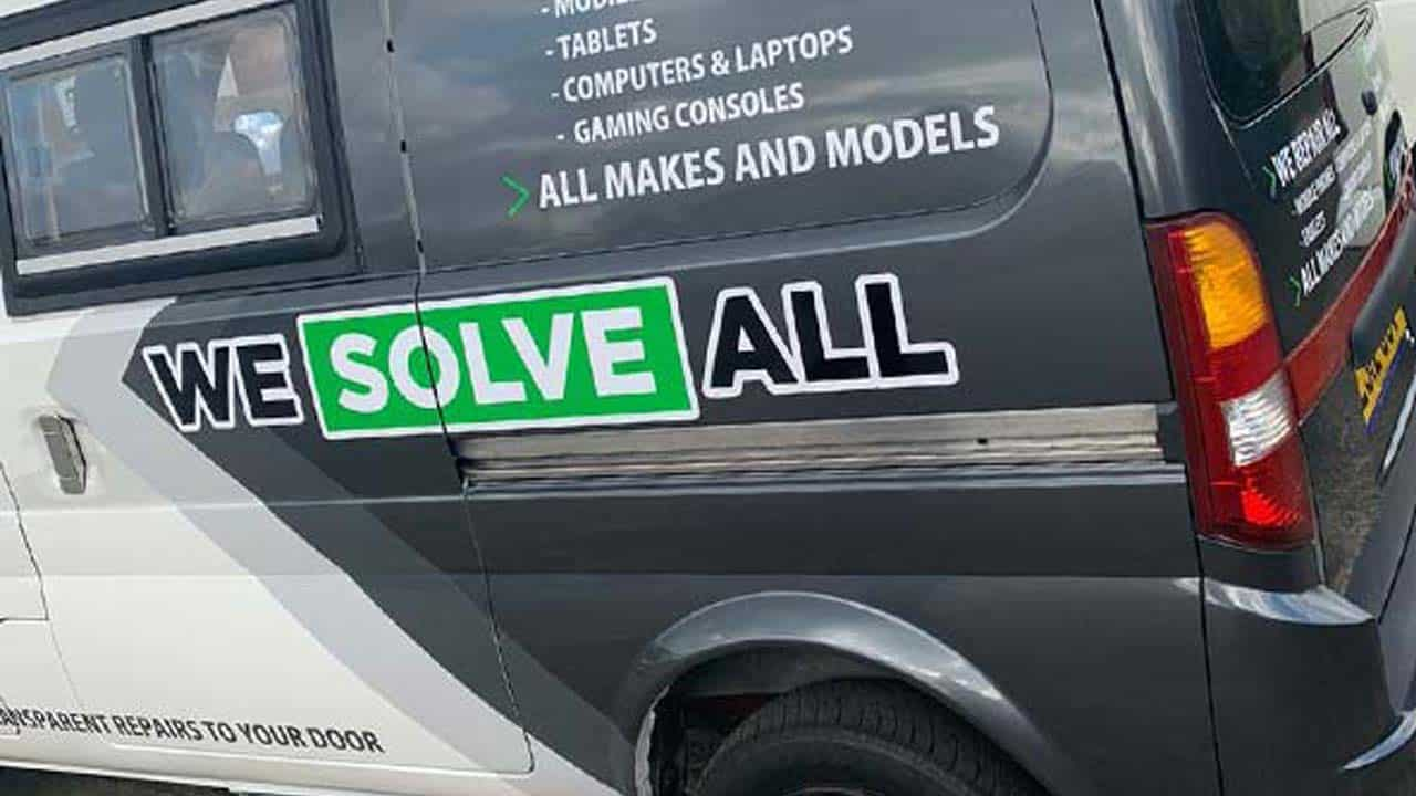 Mobile phone repair Norwich call out service van.