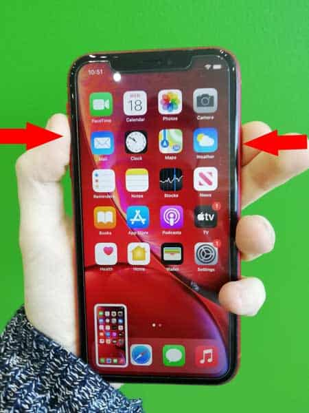 How to take a screenshot on an iPhone X.