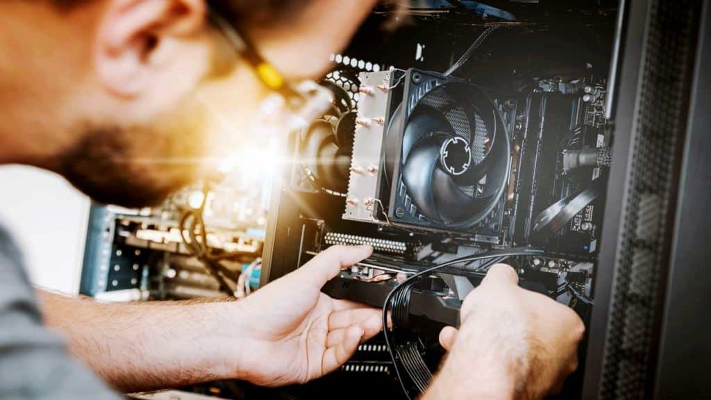 Computer repair Taverham shop to upgrade a hard-drive.