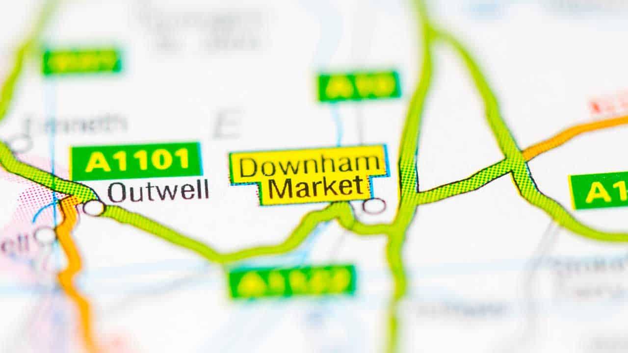 Phone repair Downham Market shop map.