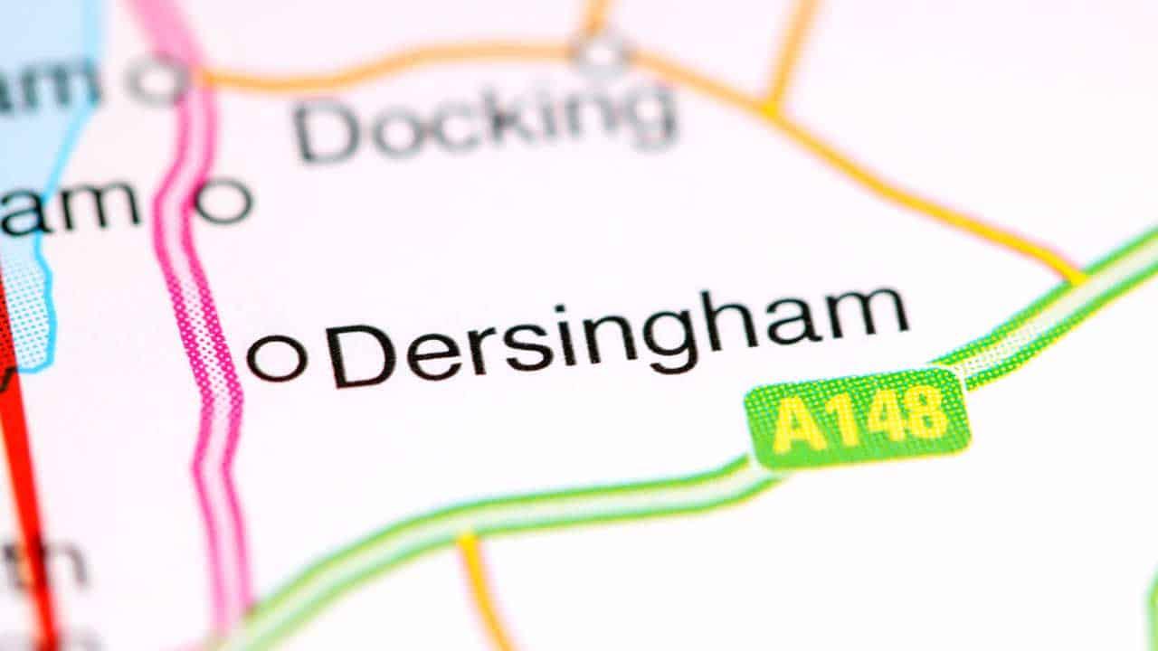 Mobile phone repair Dersingham Norfolk shop local area map.