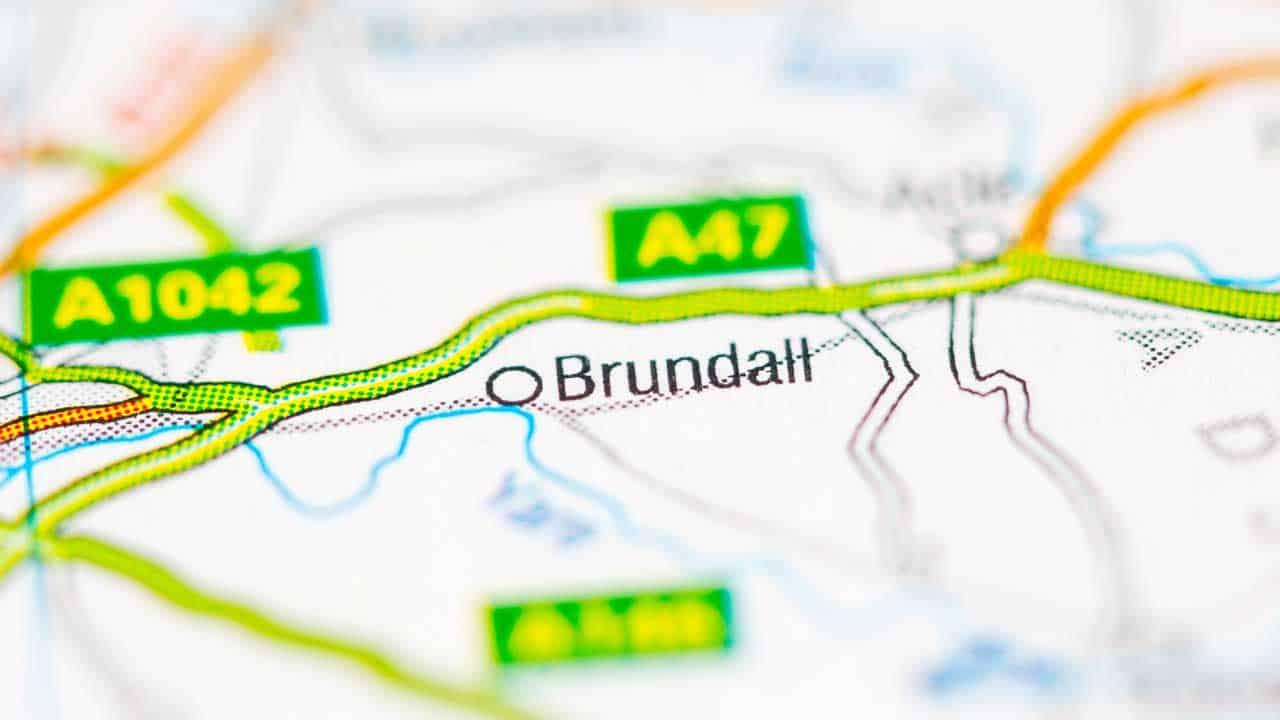 Phone repair Brundall shop map Norfolk.