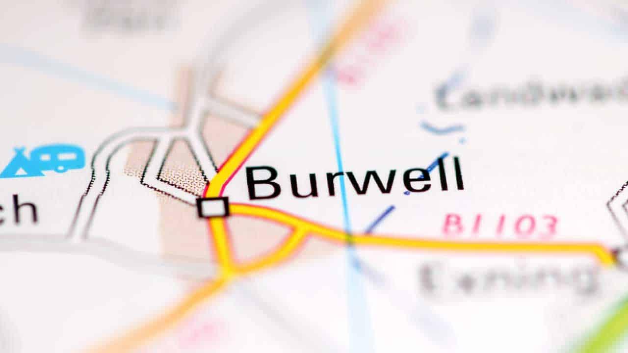 Phone repair Burwell Cambridgeshire shop map.