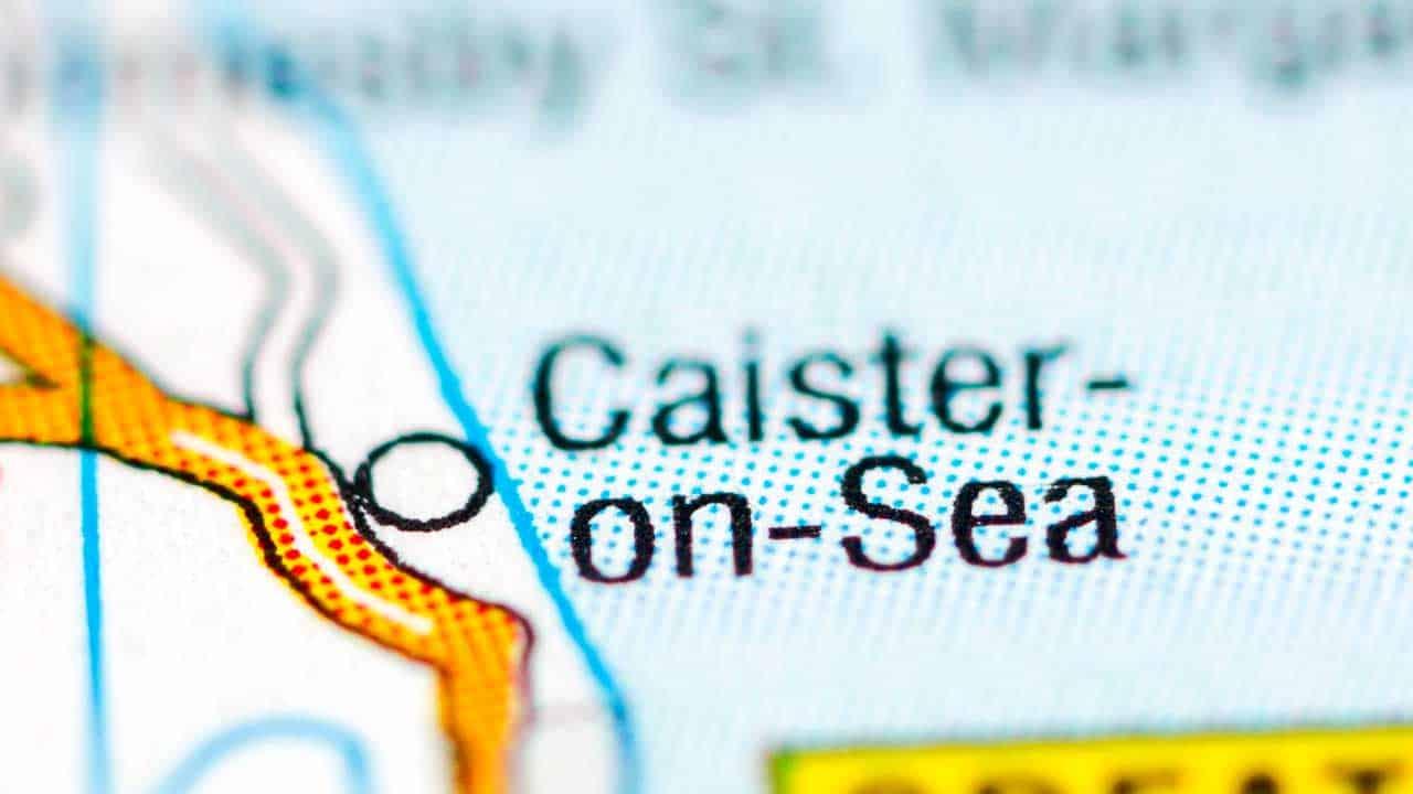 Phone repair Caister-On-Sea Norfolk shop map.