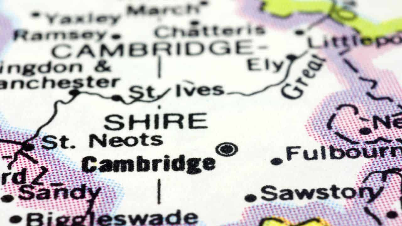 Phone repair Cambridgeshire shop map.