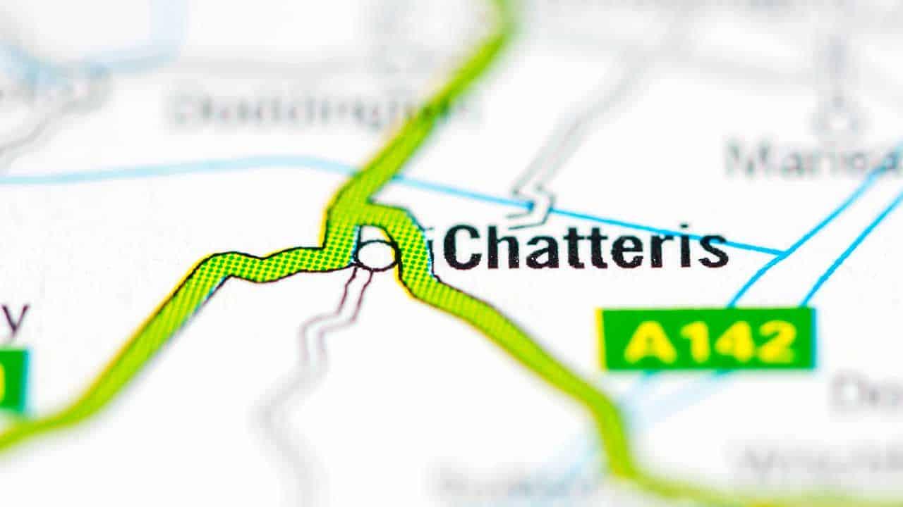 Phone repair Chatteris shop Cambridgeshire map.