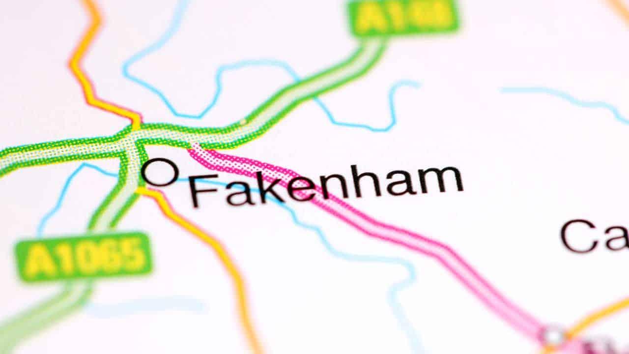 Phone repair Fakenham shop map Norfolk.