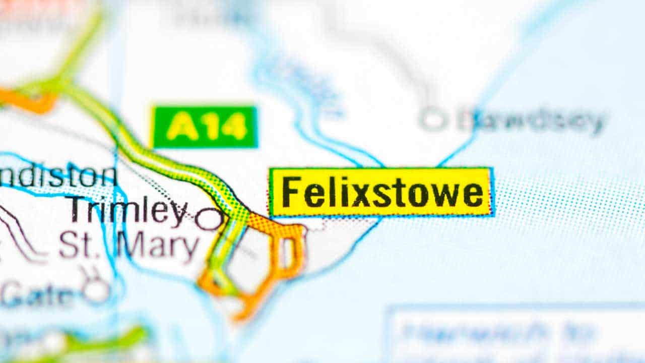 Phone repair Felixstowe Suffolk shop map.