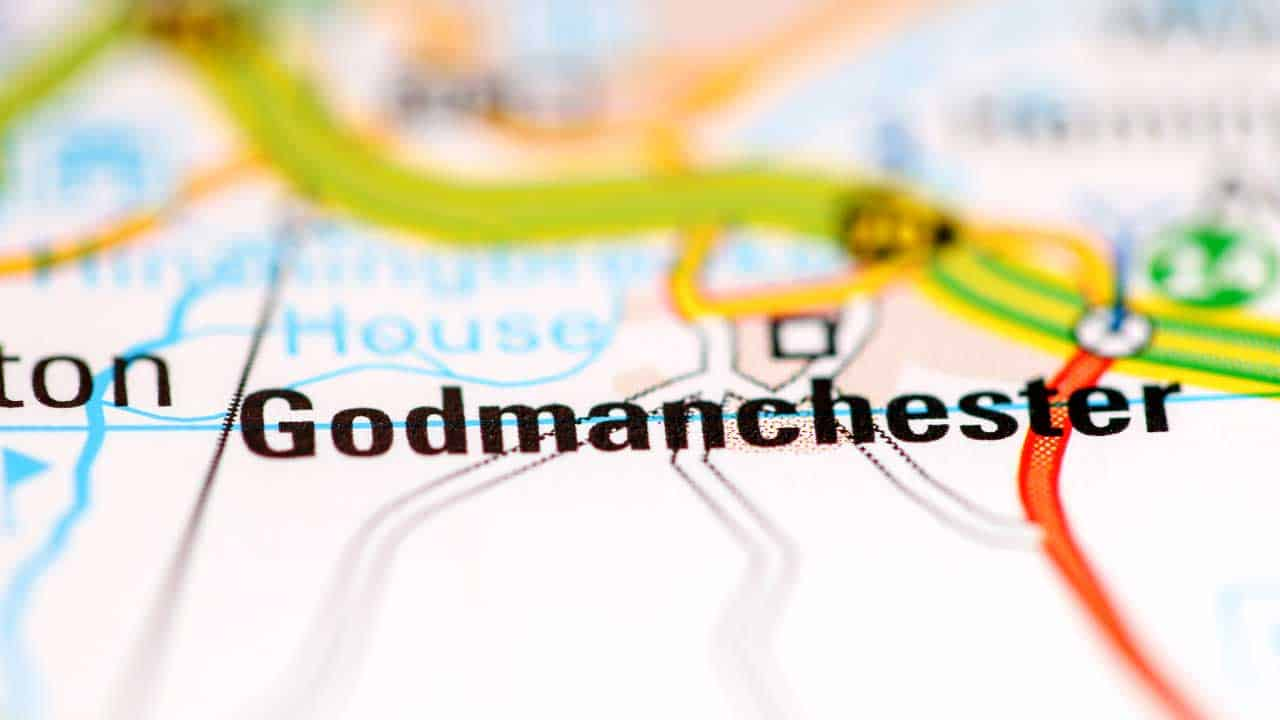 Phone repair Godmanchester Cambridgeshire shop map.