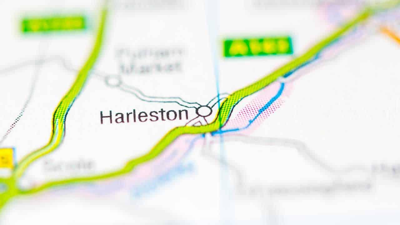 Phone repair Harleston shop map Norfolk.