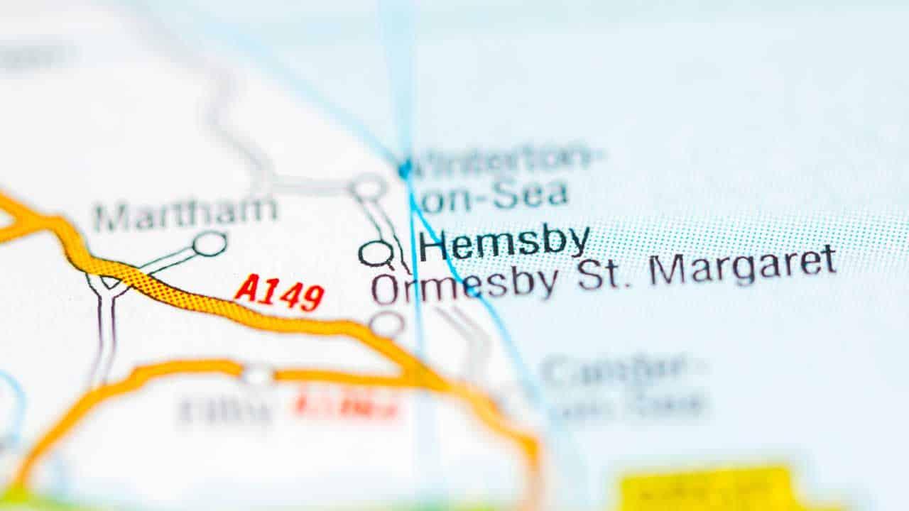 Phone repair Hemsby shop map Norfolk.
