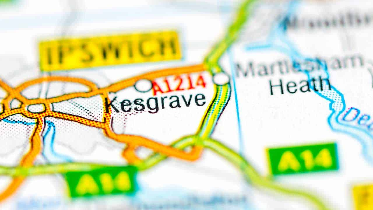 Phone repair Kesgrave shop map Suffolk.