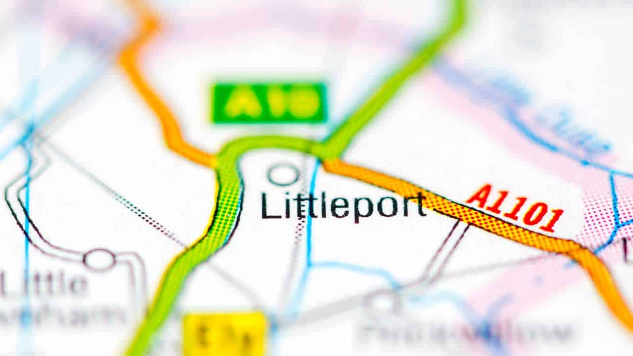 Phone repair LIttleport Cambridgeshire shop map.
