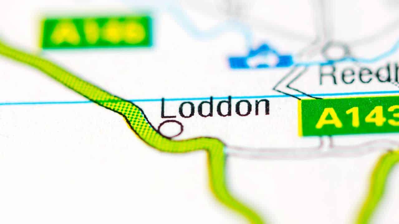 Phone repair Loddon Norfolk shop map.