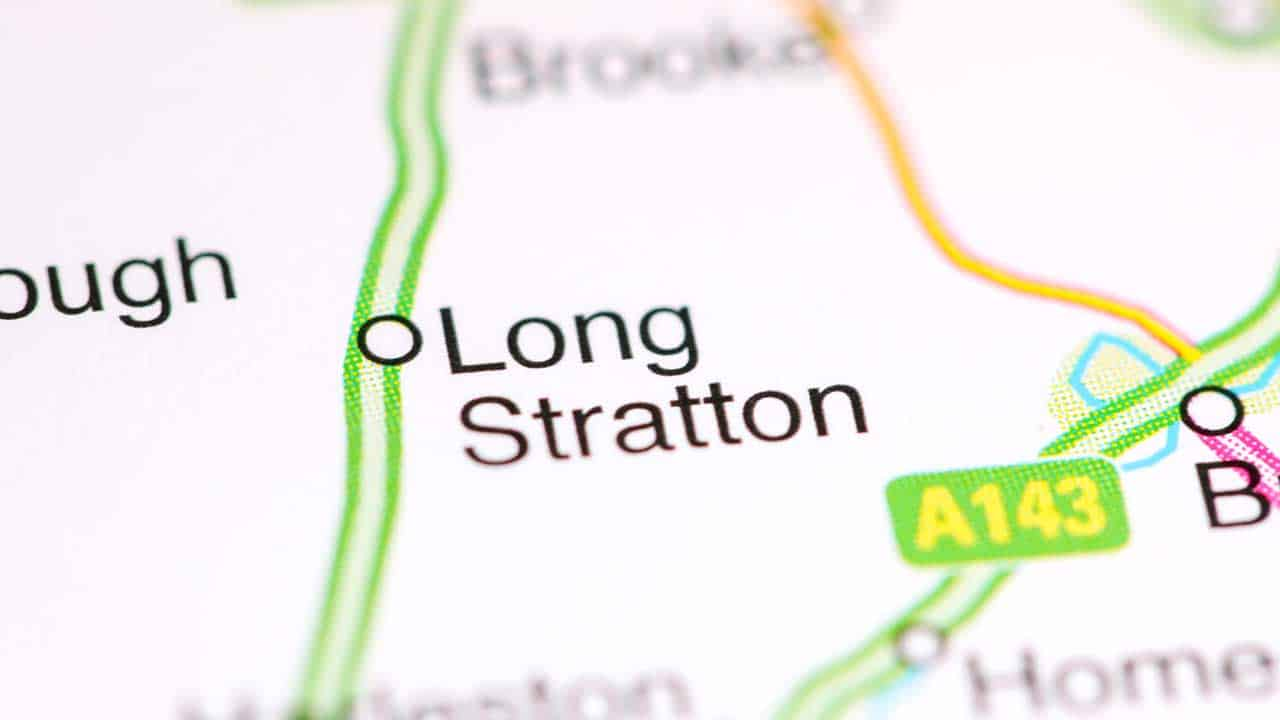 Phone repair Long Stratton shop map Norfolk.