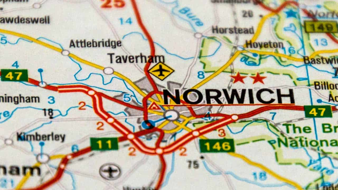 Phone repair Queen's Hill shop map Norfolk.
