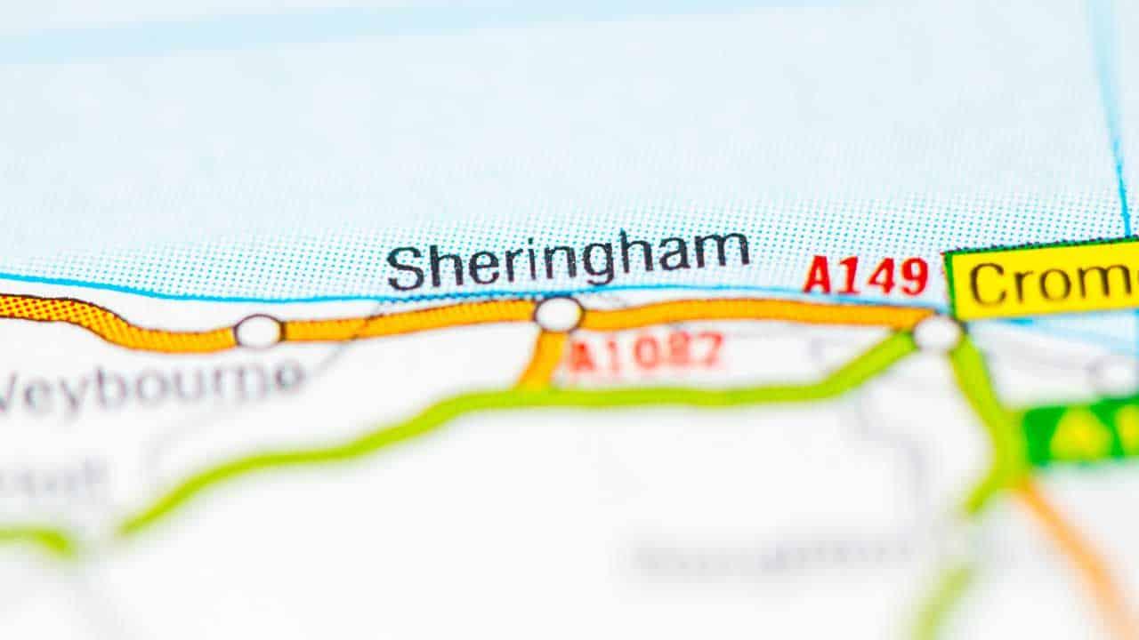 Phone repair Sheringham shop map Norfolk.
