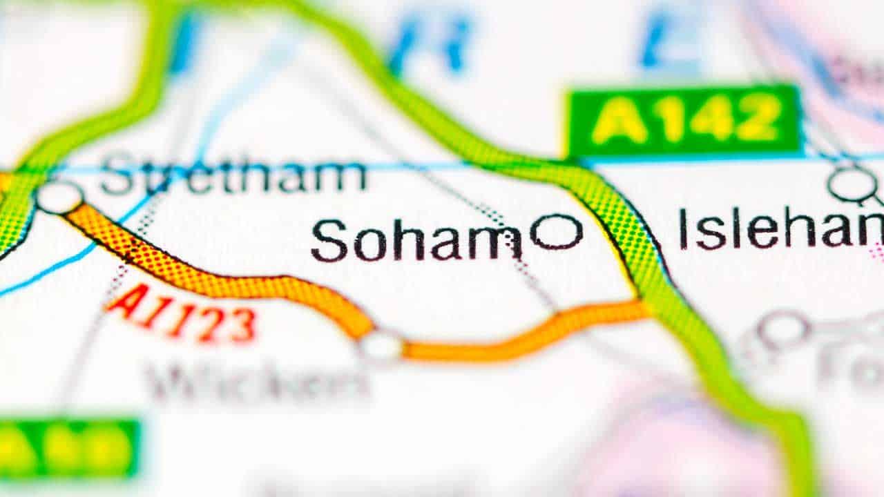 Phone repair Soham Cambridgeshire shop map.