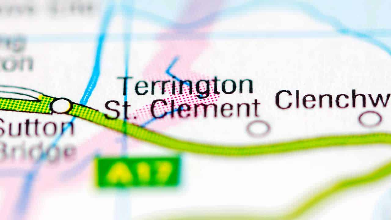 Phone repair Terrington St Clement Norfolk shop map.