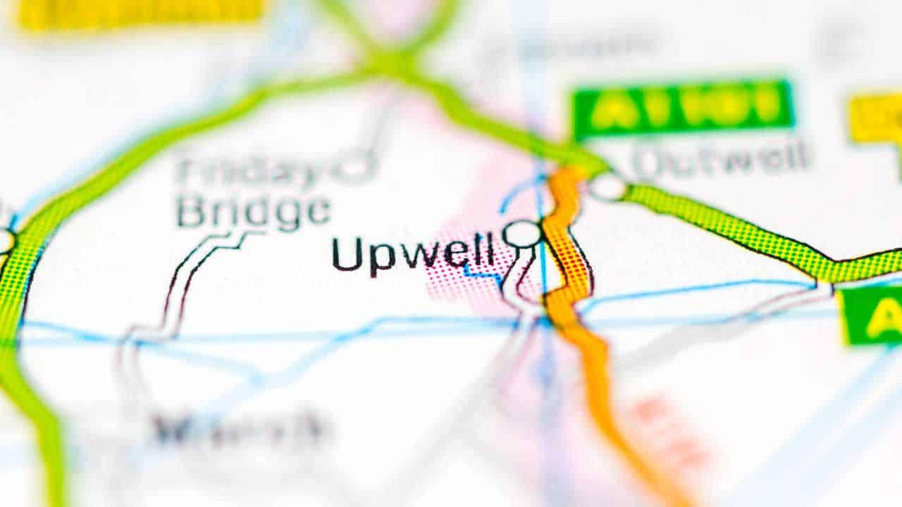 Phone repair Upwell Norfolk shop map.
