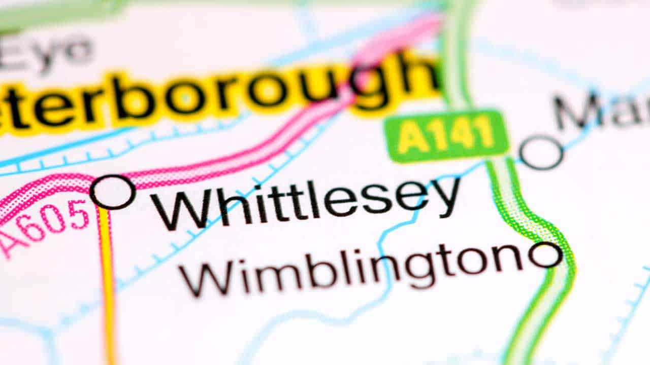 Phone repair Whittlesey Cambridgeshire shop map.