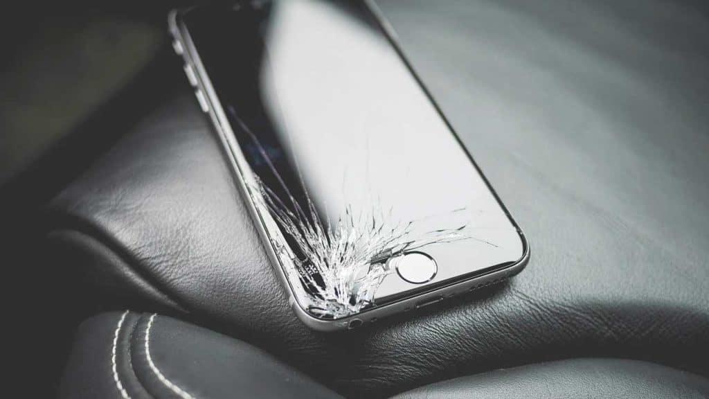 An iPhone screen repair Lincoln shop job to replace broken glass.