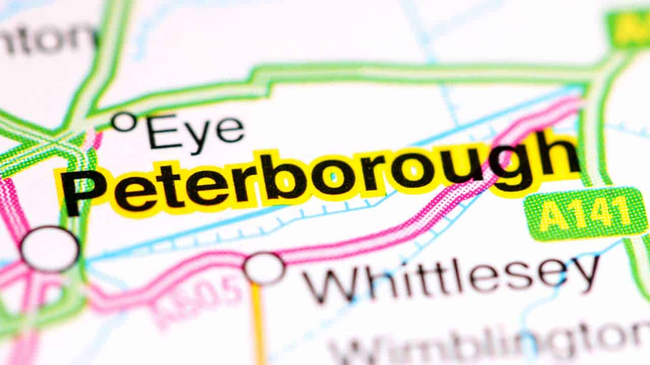 Peterborough phone repair shop map.