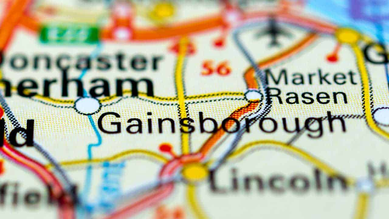 Phone repair Gainsborough Lincolnshire shop map.