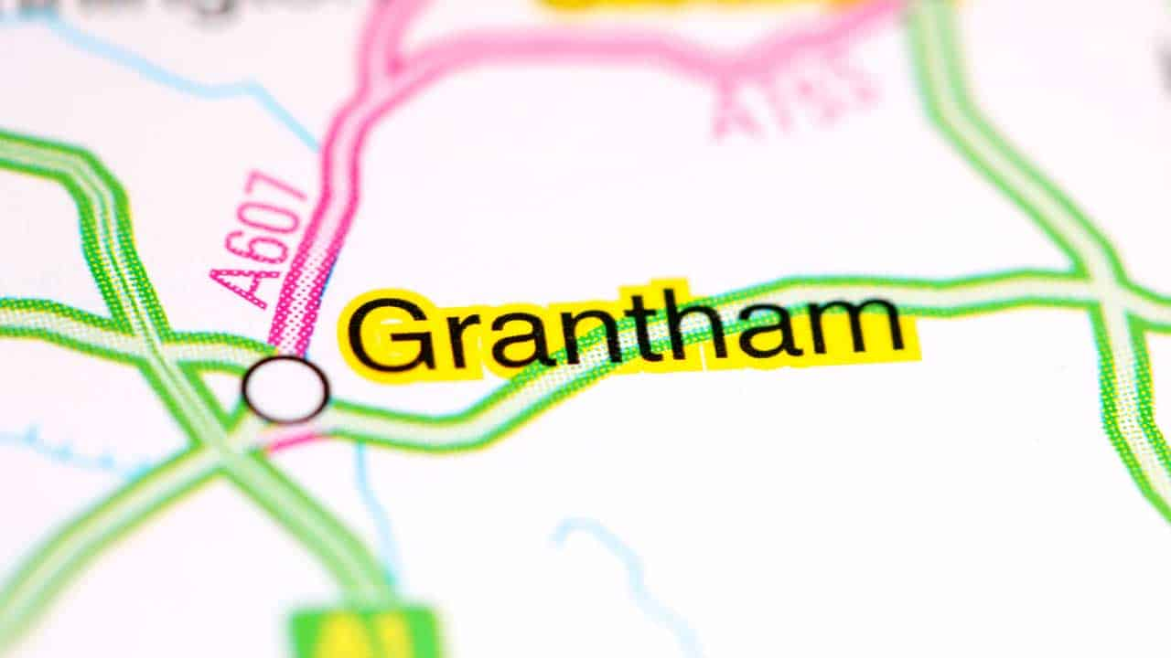 Phone repair Grantham Lincolnshire shop map.