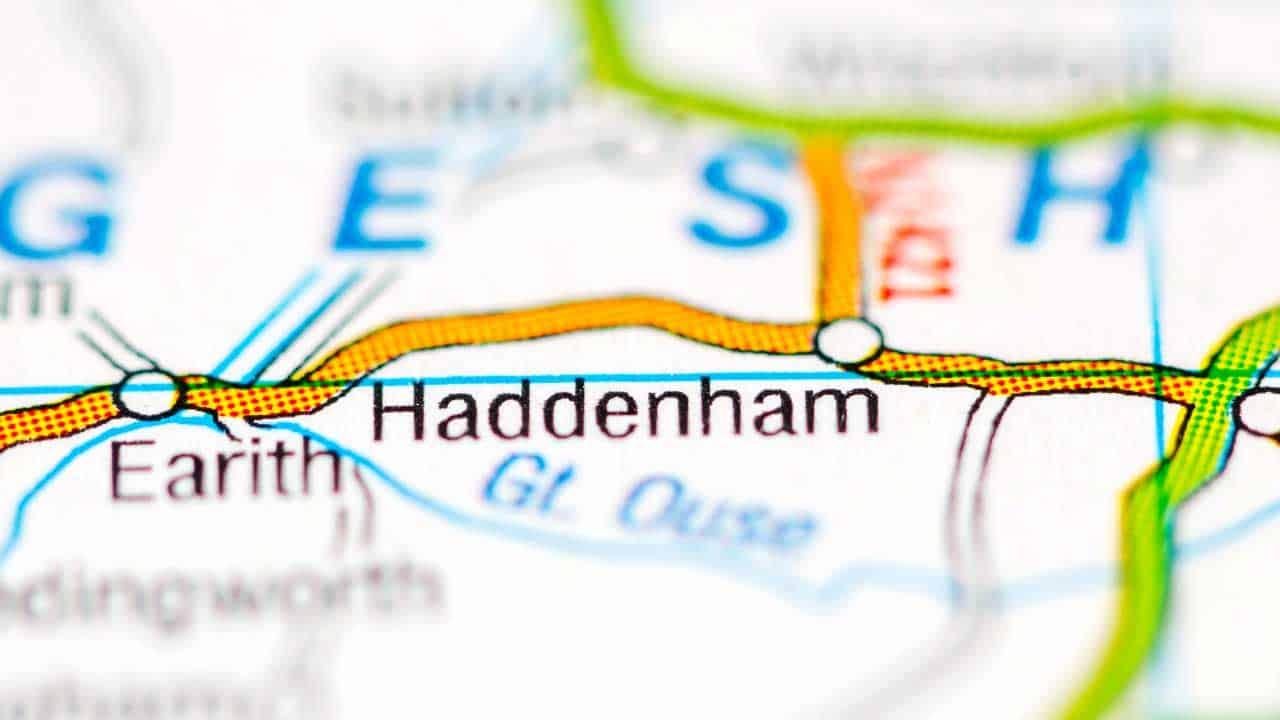 Phone repair Haddenham Cambridgeshire shop map.