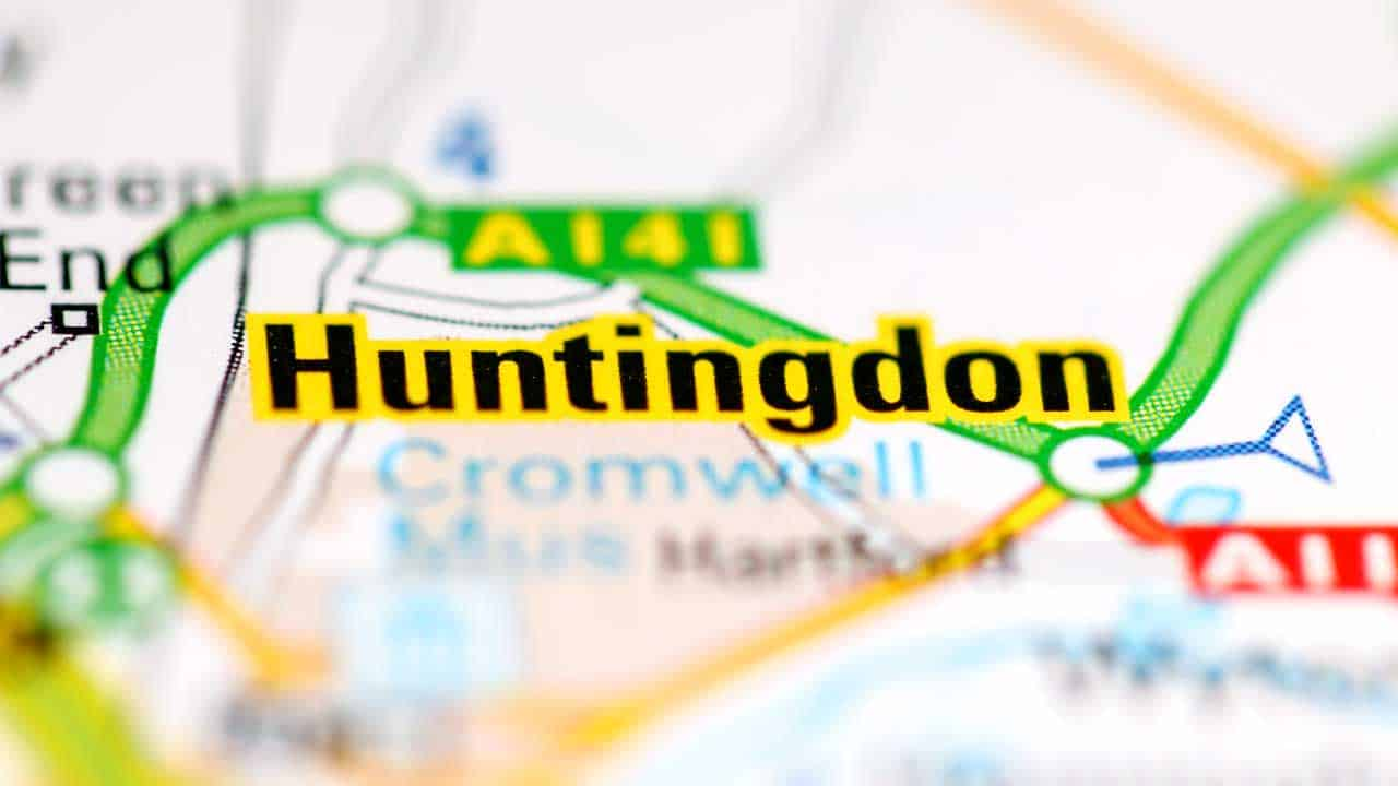 Phone repair Huntingdon Cambridgeshire shop map.