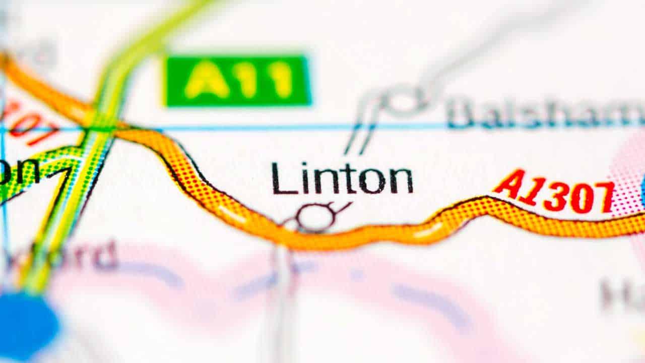 Phone repair Linton Cambridgeshire shop map.