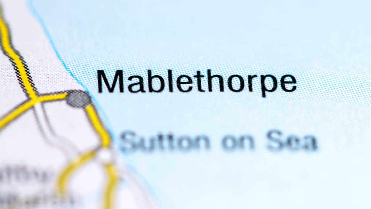 Phone repair Mablethorpe Lincolnshire shop map.