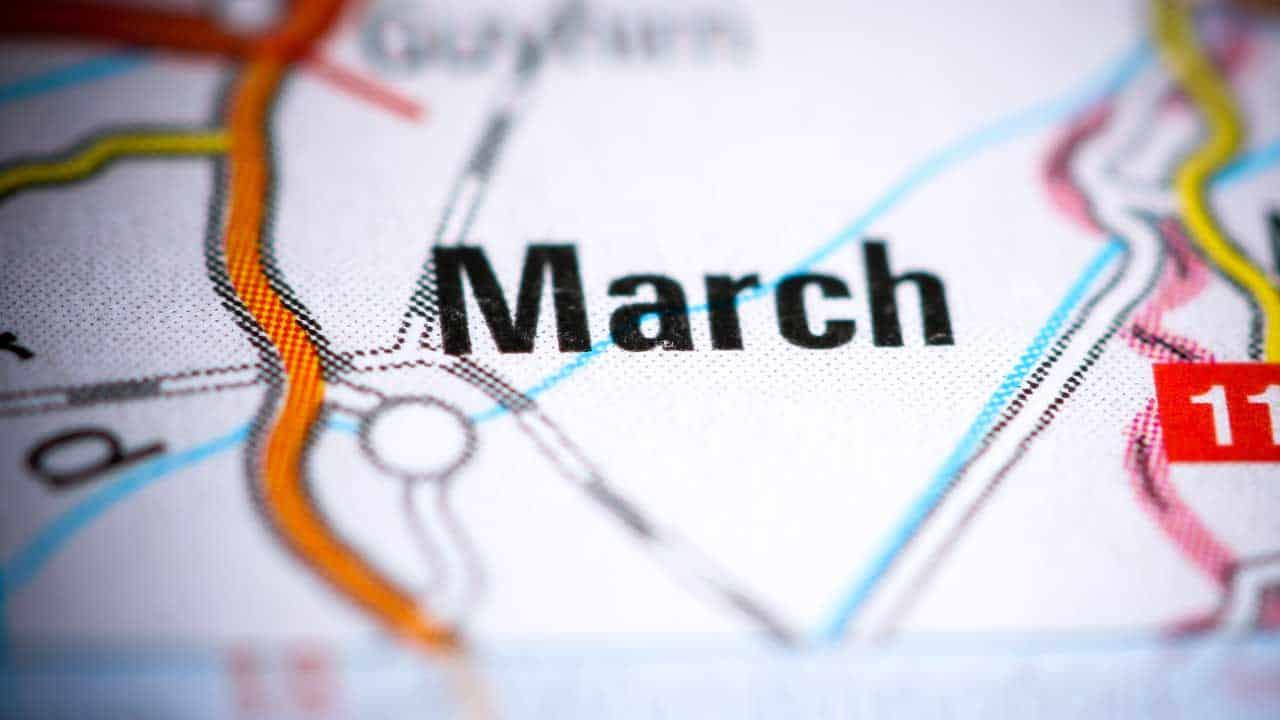 Phone repair March Cambridgeshire shop map.