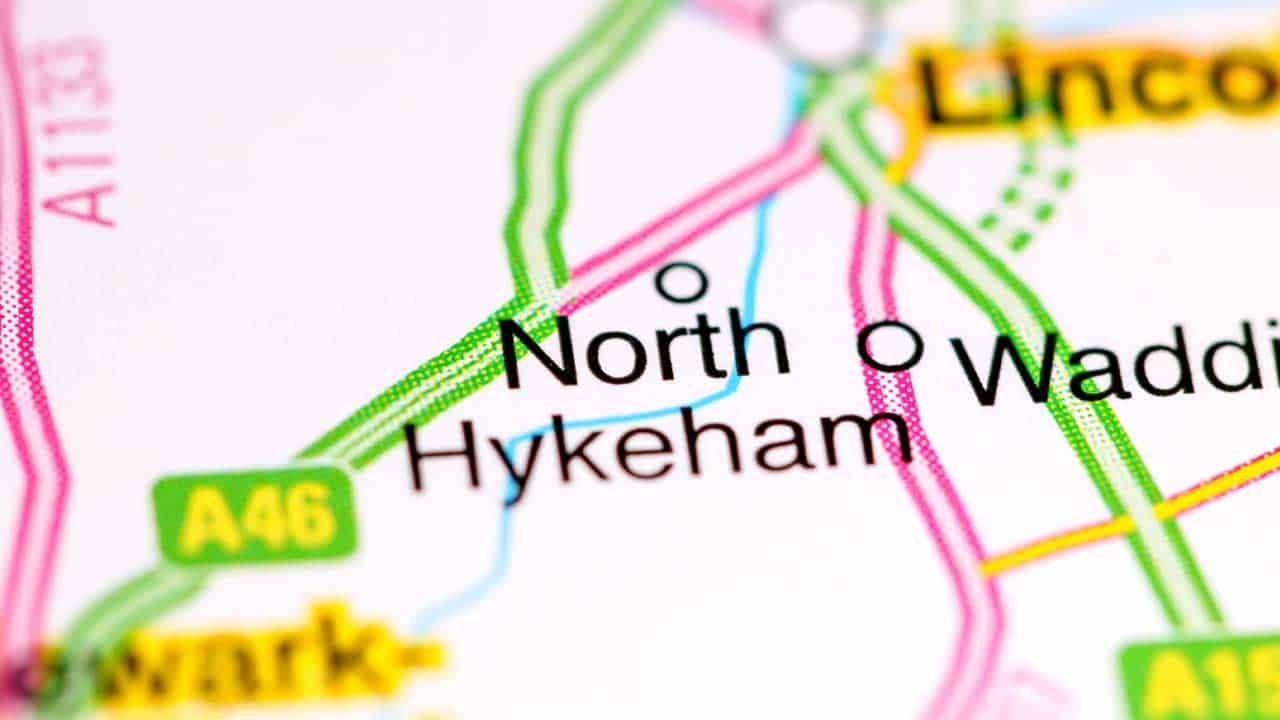 Phone repair North Hykeham Lincolnshire shop map.