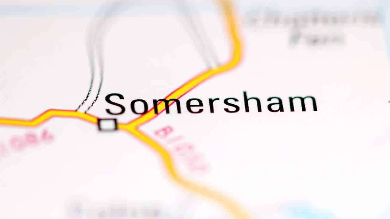 Phone repair Somersham Cambridgeshire shop map.