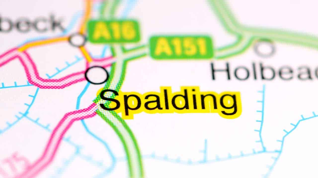 Phone repair Spalding Lincolnshire shop map.