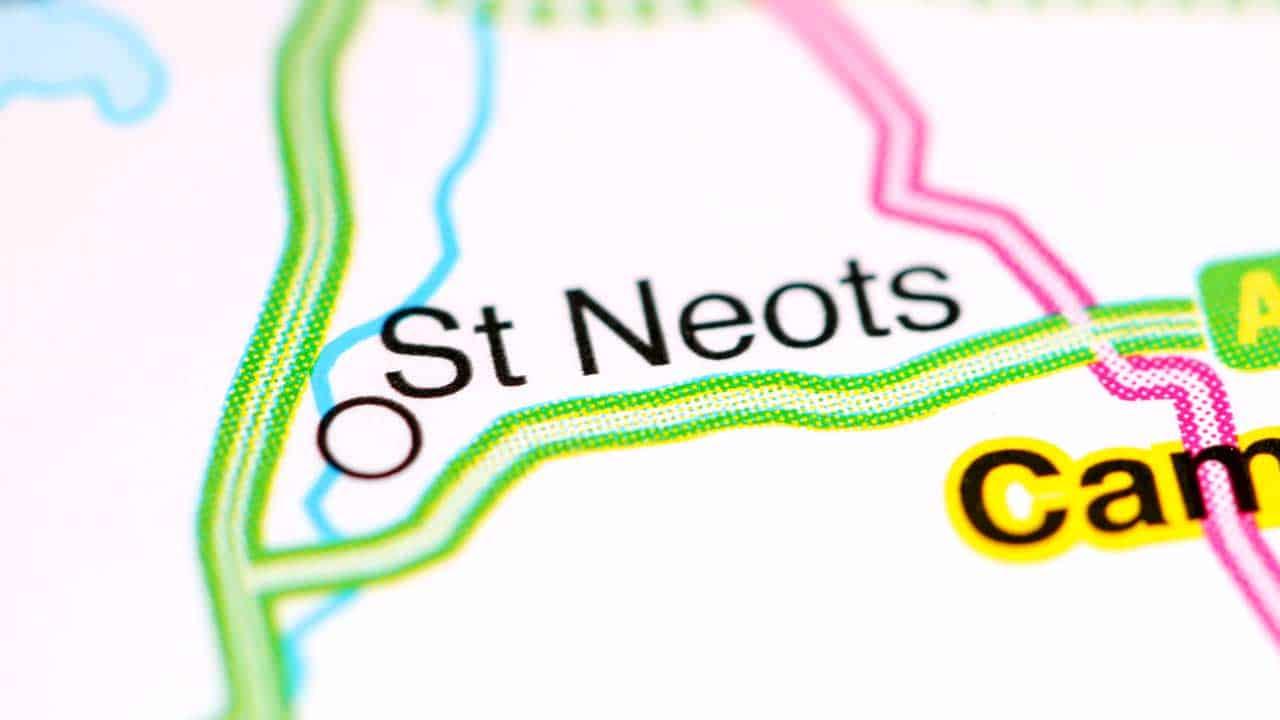 Phone repair St Neots Cambridgeshire shop map.